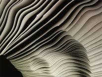 Wellen aus papier, Collage, Rohbau, Akt