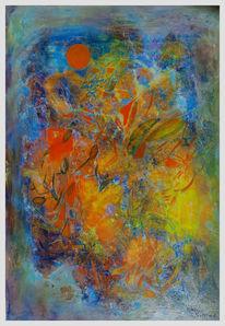 Landschaft, Traum, Orient, Malerei