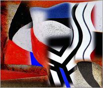 Digitale kunst, Blau, Rot