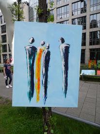 Blau, Menschen, Malerei, Acrylmalerei