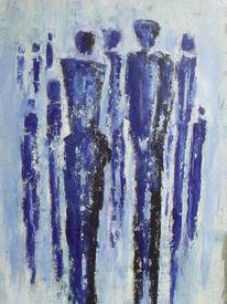 Blau, München, Acrylmalerei, Blau mit gold
