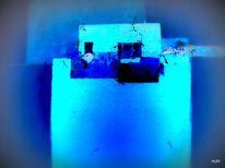 Dampfschiff, Wasser, Blau, Malerei