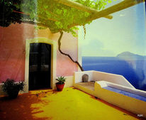Terasse, Wein, Insel, Fotografie