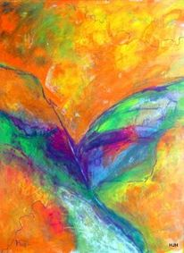 Blau, Flügel, Tentakel, Malerei