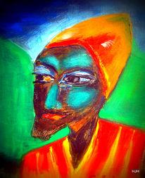 Mann, Grün, Schwarz, Malerei