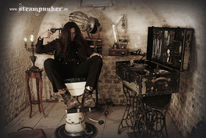 Steampunk, Keller, Outfit, Skurril