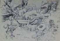 Wand, Zeichnungen,