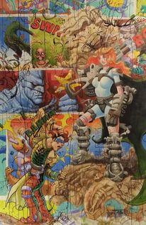 Zeichnung, Malen, Mauer, Malerei