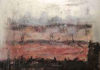 Verwandlung, Abstrakte landschaft, Elemente, Expressionismus