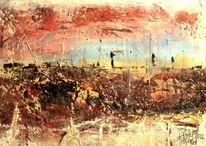 Horizont, Erdfarben, Abstrakt, Verwandlung