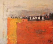 Gelb, Abstrakte landschaft, Elemente, Orange