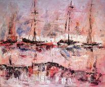 Kroatien, Banjole, Segelboot, Abendrot