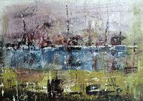 Abstrakte landschaft, Eindrücken, Elemente, Abstrakt