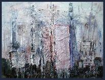 Elemente, Industrie, Blau, Abstrakt