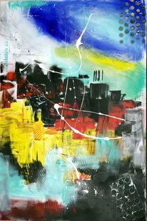 Modern, Abstrakt, Intensiv, Gelb