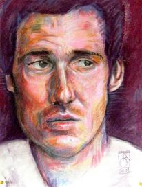Menschen, Portrait, Ausdruck, Pastellmalerei