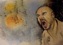 Emotion, Kohlezeichnung, Menschen, Malerei