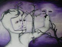 Baum, Weite, Schein, Frage