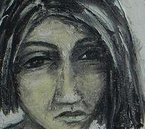 Trauer, Frau, Düster, Malerei
