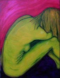 Rückseite, Grün, Unterschied, Malerei