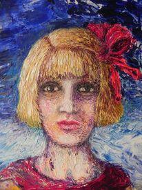 Schleife, Mädchen, Rot, Malerei