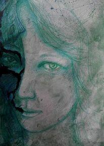 Vergänglichkeit, Zeichnung, Dunkel, Gedanken