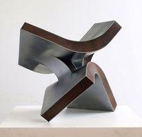 Stahlskulptur, Skulptur, Schweben, Entfaltung
