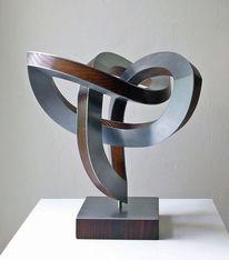 Skulptur, Schwingung, Bewegung, Stahlskulptur