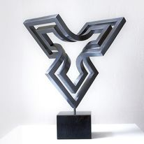 Schweben, Objektive skulptur, Stahlskulptur, Entfaltung