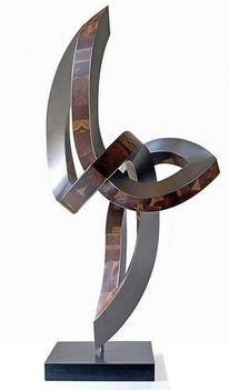 Beziehung, Stahlskulptur, Skulptur, Begegnung