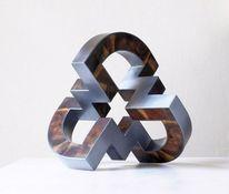 Skulptur, Offene mitte, Holz, Raumkonstruktion