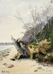 Strand, Orlowo, Frühling, Ostsee