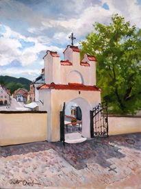Kirche, Kazimierz, Dolny, Sommer