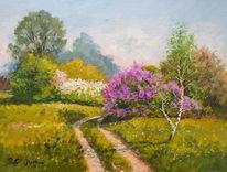 Malerei, Park, Frühling
