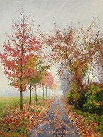 Herbstgasse, Malerei
