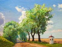 Sommer, Kapelle, Landstrasse, Landschaft
