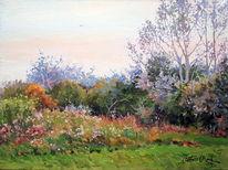 Blumen, Baum, Sommer, Wiese