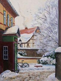 Schnee, Winter, Stadt, Wernigerode