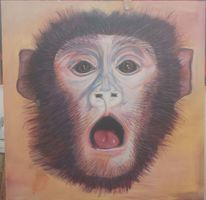 Affe, Tierhaltung, Tierversuche, Malerei