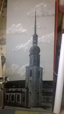 Dortmund, 1959, 140x60, Acrylmalerei