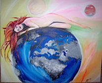 Acrylmalerei, Venus, Bunt, Arde