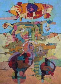 Panel, Abstrakt, Expressionismus, Ölmalerei