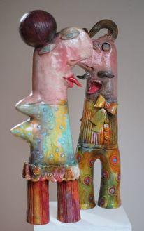 Dekoration, Skulptur, Keramik, Portrait