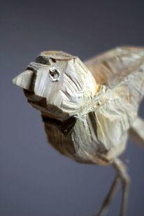 Holz, Skulptur, Vogel, Figurativ