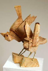 Vogel, Skulptur, Holz, Design