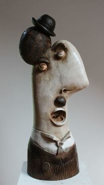 Ceramic sculpture, Skulptur, Portrait, Design