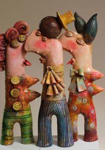 Portrait, Figurative kunst, Modern, Ceramic sculpture