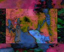 Stimmungsvoll, Collage, Spielerei, Digitale kunst