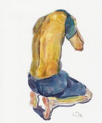 Anatomie, Rücken, Akt, Bewegung