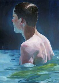 Rücken, Becken, Figur, Malerei